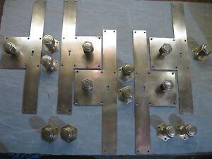 7 Prs Original Reclaimed  Art Deco Brass Copper / Bronze Door Knobs 0138