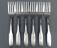 Lot of 6 Oneida Community Paul Revere Stainless Salad Fork 6 1/2""