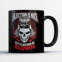 Car Enthusiast Coffee Mug - I'd Rather Be Blown - Funny 11 oz Black Ceramic Tea