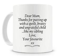 Dear Mum Coffee Mug Funny Gift Ideas for Mum For Christmas Birthdays Mothers Day