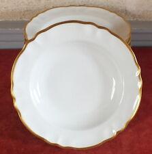assiette creuse porcelaine Limoges filet doré