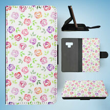 SAMSUNG GALAXY NOTE 9 FLIP CASE WALLET COVER|WATERCOLOUR FLORAL PATTERN #2