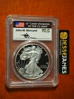 2016 W PROOF SILVER EAGLE PCGS PR70 MERCANTI FIRST DAY OF ISSUE WASHINGTON DC