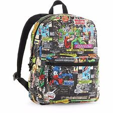 """Marvel 16"""" Comics Backpack Super Heroes Thor Ironman Hulk New with tags NWT"""