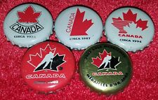 2002 Molsons ☆🍁TEAM CANADA HOCKEY🍁☆ Complete Beer Cap/Crown  Set (5) Free Ship