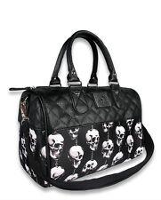 Liquor Brand Trinkets Hanging Skulls Goth Punk Handbag Purse Round Bag B-RB-025