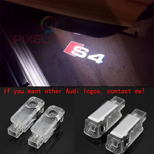 4Pcs Audi S4 LOGO GHOST LASER PROJECTOR DOOR UNDER PUDDLE LIGHTS FOR AUDI S4