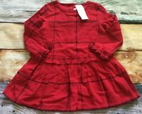 Gymboree 2T 3T 4T 5T Holiday Christmas Windowpane Ruffle Red Dress NWT Outlet