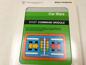 CAR WARS  video game Texas Instruments TI 99/4a Computer - NEW FRESH CASE -NIB
