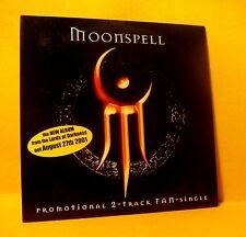 Cardsleeve Single CD MOONSPELL PROMOTIONAL 2 TRACK FAN-SINGLE 2001 goth metal