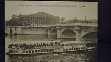 """1919 ANTIQUE FRENCH POST CARD """"LE PONT DE LA CONCORDE ET LA CHAMBRE """"  RPPC"""
