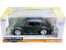 JADA BIGTIME 91697 1959 59 VW VOLKWAGEN BEETLE BUG 1/24 DUB WHEELS FLAT BLACK
