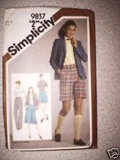 Vintage Simplicity Pattern Shirt Skirt Pants Shorts 8