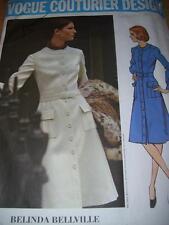 VOGUE #2566 - DESIGNER BELINDA BELLVILLE - LADIES RETRO WINTER DRESS PATTERN  14