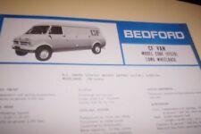 BEDFORD 1974  CF Van LWB  Spec Sheet GM NZ