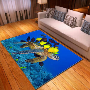 Sea Turtle Series Small Large Long Floor Carpet Area Rugs Various Size Soft Rug