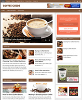 COFFEE GUIDE - Fully Featured Niche Business Website For Sale - Newbie Friendly