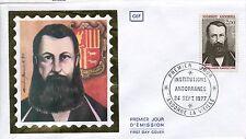 FDC PREMIER JOUR ANDORRE 1977 TIMBRE N° 266 GUILLERM D ARENY PLANDOLIT