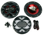 "2) New BOSS CH6500 6.5"" 2-Way 200W Slim Mount Car Coaxial Speakers Audio Stereo"