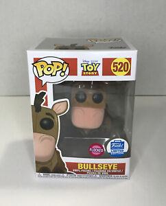 Bullseye # 520 Toy Story Flocked Funko Limited Edition Pop Vinyl Figure