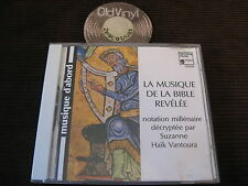 CD The Music of the Bible Benhamou Haik Vantoura Germany Sonopress