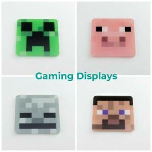 Pixel Block Gaming Coasters - Mix & Match - Creeper - Pig - Skeleton - Landscape