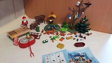 Playmobil Weihnachts Set  VIEL ZUBEHÖR Tiere Tannenbaum  Santa's Magic B-88