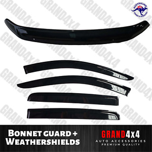 Bonnet Protector Guard + Weathershields for Mitsubishi Triton MR 2019+ Dual Cab