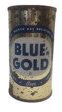 Blue 'n gold flat top beer can