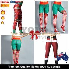 XMAS Leggings Womens Christmas Knitted Elastic Snowflake Pants Stocking Legging