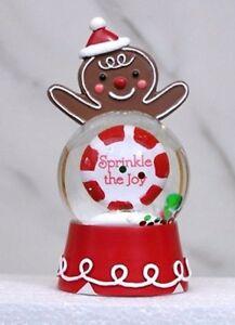 Hallmark Sprinkle The Joy Merry Christmas Gingerbread Man Snow Globe Decoration