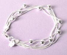 Bracelet En Argent Sterling 925 plaqué Bijoux Femmes petit bracelet, Neuf
