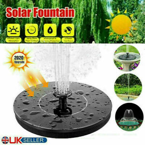 210L/H Solar Powered Fountain Submersible Water Pump Feature Garden Pool Pond UK