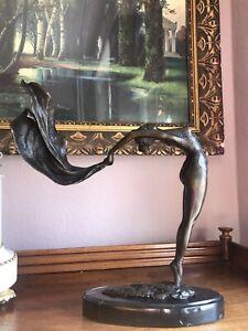 🎈Bronze Akt SJunges Mädchen Figur Im Jugendstil Art Deco