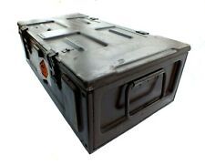 Ammo Box Large British Army Metal Tin Surplus Storage L65 X D34  X H20 CM