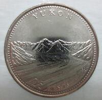 1992 CANADA 25¢ YUKON BRILLIANT UNCIRCULATED QUARTER COIN