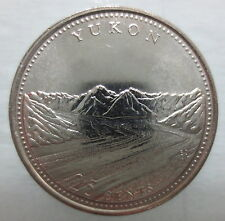 1992 CANADA 25¢ YUKON BRILLIANT UNCIRCULATED QUARTER COIN