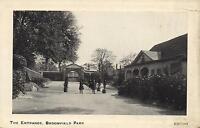 1910's VINTAGE REAL PHOTO POSTCARD - THE ENTRANCE, BROOMFIELD PARK, LONDON PC
