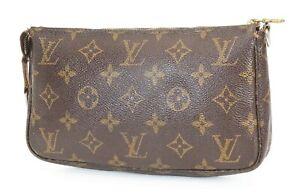 Authentic LOUIS VUITTON Accessory Pochette Monogram Handbag #38966