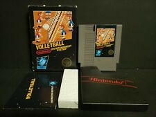 Volleyball (Nintendo Entertainment System) NES Complete Hangtab CIB Black Box