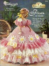 Flora of Miami Ladies of Fashion Crochet Gown Hat Pattern for Barbie Dolls NEW