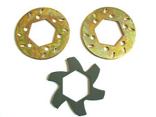BAJA BRAKE DISC ROTORS AND FIN PLATE,  COMPATIBLE WITH HPI BAJA 5B/SS