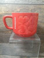 Starbucks 2018 Limited Edition Red Hearts Ceramic Coffee Mug 12 FL Oz / 355 ML