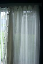 """Drapes/Curtains 2 Panels each 36""""x76 White Sheer Quality French Pleated"""