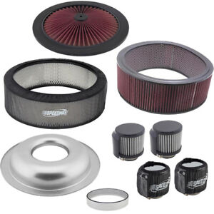 Speedway Motors 14x5 Inch Air Cleaner/Pre-Filter/Breather Kit