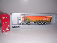 "HERPA #843022  Scania Cab w/Tri Axle ""Wernberger"" Box Trailor  White H.O.Gauge"