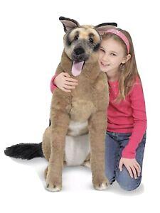 "Melissa And Doug Life Size Stuffed German Shepherd Dog Large 32"" RARE"