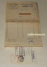 LETTRE de CHANGE 1957 CAVIA Crédit pour l'Achat de Véhicules Auto + BORDEREAU