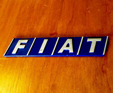 FIAT EMBLEM BADGE LOGO TAIL GATE UNO TIPO TEMPRA 124 131 DIMENSIONS 90mm X 20mm