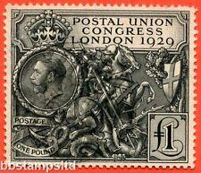 SG. 438. NCom9. £1.00 Postal Union Congress. A good used example.